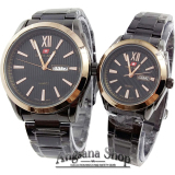 Jual Swiss Army Romawi Jam Tangan Formal Couple Pria Dan Wanita Date Day Stainless Black Rose Ori