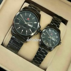 Swiss Army - SA-3767-DS - Jam Tangan Couple - Stainless - Full Hitam