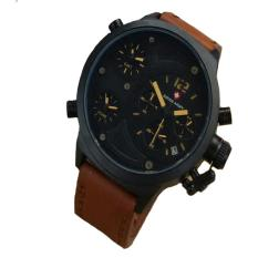 Beli Swiss Army Sa 4020 Ls Leather Strap Jam Tangan Pria Cokelat Yang Bagus