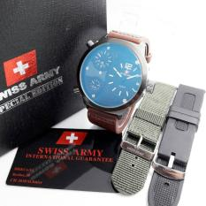 Harga Swiss Army Sa 4070 Jam Tangan Pria Leather Strap Murah