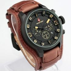 Beli Swiss Army Sa 4372Cj Chrono Coklat Jam Tangan Fashion Pria Leather Strap Analog Mode Cicil
