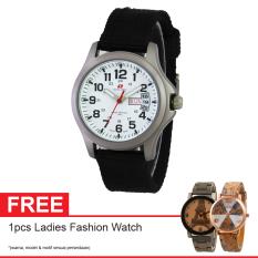 Spesifikasi Swiss Army Sa 5105 Ss Sil Free Jam Tangan Digital Jam Tangan Wanita Kanvas Hitam Paling Bagus