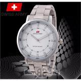 Swiss Army Sa 5108 Pria Wanita Elegant Silver Stainless Di Indonesia