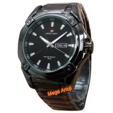 Harga Swiss Army Sa0060 Jam Tangan Pria Stainless Steel Hitam Original