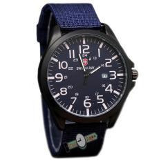 Spesifikasi Swiss Army Sa0066M Jam Tangan Pria Strap Kanvas Biru Baru