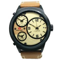 Beli Swiss Army Sa1153 Jam Tangan Pria Leather Strap Terbaru