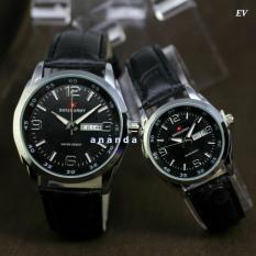 Swiss Army SA1240 Jam Tangan Couple  Pria dan wanita Leather Strap terbaru