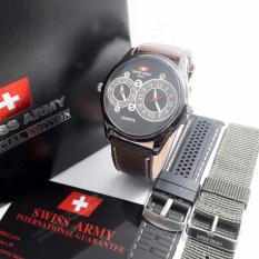 Beli Swiss Army Sa1490Mbrw Casual Jam Tangan Pria Free Tali Leahter Strap Canvas Nyicil