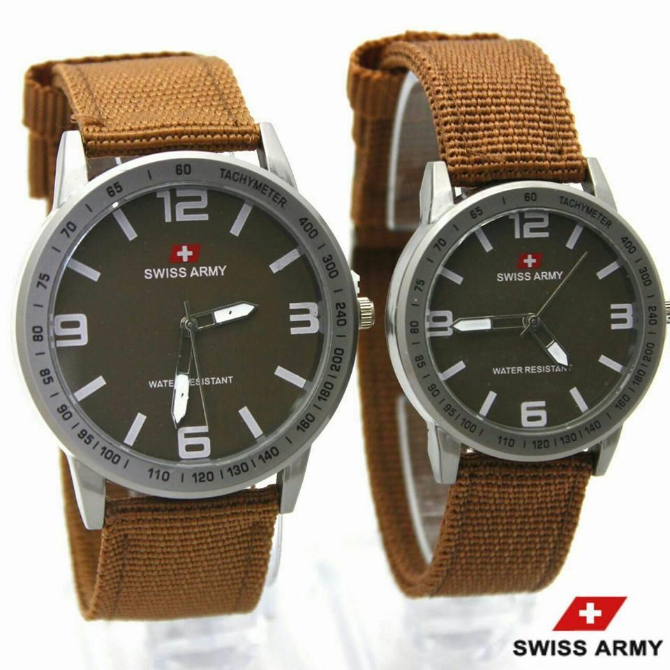 Swiss Army SA43NY Tali Kanvas Jam tangan Couple Pria dan wanita Murah