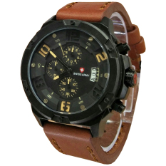 Swiss Army Sa5040mb - Jam Tangan Fashion Pria Elegant - Fiture Chronograph Active - Date - Leather