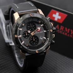 Diskon Besarswiss Army Sa5046M Cronograph Jam Tangan Pria Strap Leather