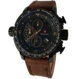 Jual Swiss Army Sa5046M Cronograph Jam Tangan Pria Strap Leather Coklat Lis Kuning Online Dki Jakarta