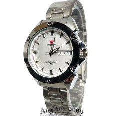 Review Swiss Army Sa5088 Jam Tangan Formal Wanita Elegant Analog Simple Mewah Date Day Stainless Silver White Swiss Army Di Banten