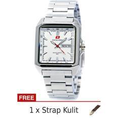 Jual Beli Swiss Army Sa5109M Ss Putih Jam Tangan Pria Stainless Steel Strap Kulit Di Dki Jakarta