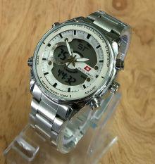 Beli Swiss Army Sa5171 Jam Tangan Pria Dual Time Stainlesstell Strap Silver Swiss Army Asli