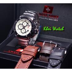 Promo Swiss Army Sa5205M Jam Tangan Formal Pria Stainlessteel Leather Strap Black Swiss Army Terbaru