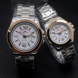 Jual Swiss Army Sa5768Art Jam Tangan Couple Stainless Steel Putih Hitam Gold Satu Set