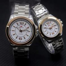 Review Terbaik Swiss Army Sa5768Art Jam Tangan Couple Stainless Steel Putih Hitam Gold