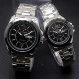 Spesifikasi Swiss Army Sa5768Art Jam Tangan Couple Stainless Steel Putih Hitam Gold Bagus