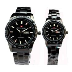 Swiss Army Sa6111 Jam Tangan Couple Stainless Full Hitam Swiss Army Diskon 30