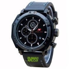 Spesifikasi Swiss Army Sa6808M Jam Tangan Pria Chrono Strap Kulit Hitam Dan Harganya