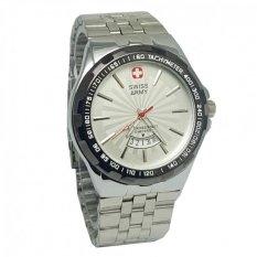 Review Swiss Army Sa8100Lds Tanggal Jam Tangan Pria Stainless Steel Silver Putih