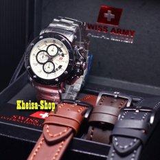 Cara Beli Swiss Army Sa9205 Jam Tangan Pria Stainlessteel Leather Strap Chrono