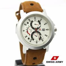 Jual Swiss Army Sa9994 Jam Tangan Casual Pria Leather Strap Dki Jakarta Murah