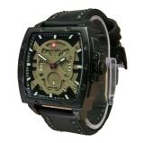 Spesifikasi Swiss Army Skull Jam Tangan Pria Leather Strap Sa 4124 Full Black Skull Dan Harganya