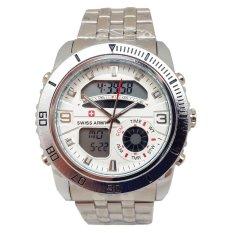 Toko Swiss Army Sport Digital Combo Jam Tangan Pria Silver Stainless Dial Putih Sa 1522 Sa Online