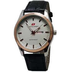 Harga Swiss Army Tanggal Hari Sa813 Lth Jam Tangan Wanita Strap Leather Hitam Silver Dan Spesifikasinya