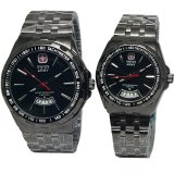 Jual Swiss Army Tanggal Sa8100Lds Jam Tangan Couple Strap Stainless Steel Hitam Swiss Army Grosir