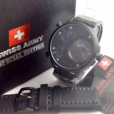 Swiss Army Triple Time original - Jam Tangan Pria - Leather Strap - SA 5133