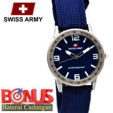 Harga Swiss Army Wanita Watches Fashion Tali Canvas Yang Bagus