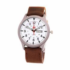 Beli Swiss Army Watch Jam Tangan Pria Coklat Tali Nylon Sa 7826 Cicilan