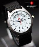 Harga Swiss Army Watch Jam Tangan Pria Hitam Putih Tali Nylon Sa 7826 Paling Murah