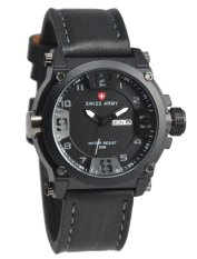 Beli Swiss Army Watch Jam Tangan Pria Hitam Tali Kulit Sa005 Nyicil
