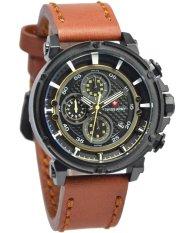 Diskon Produk Swiss Army Watch Jam Tangan Pria Tali Kulit Coklat Sa5038