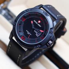 Swiss Army Watch Sa910 Bw Jam Tangan Pria Tali Kulit Terbaru