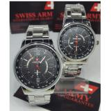 Harga Swiss Army Swiss Time Sa 738 Pw Couple Jam Tangan Pria Dan Wanita Silver Dial Putih Stainless Steel Asli Swiss Army