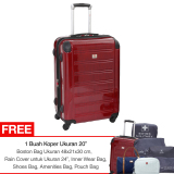 Jual Swiss Military Hard Case Luggage 24 Red Import