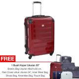 Ulasan Mengenai Swiss Military Hard Case Luggage 24 Red