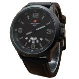 Harga Hemat Swiss Navy Jam Tangan Pria Leather Strap Black Sn 1128 Bg