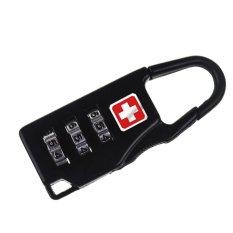 Swiss Password Code Lock Travel Bag Digital Combination / Kunci Gembok Kode - Black