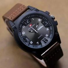 Jam Tangan Fashion Pria Swis Army-Leather Brown Terbaru  S1420