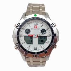 Berapa Harga Swiss Time Army Jam Tangan Pria Stainlesstell Strap Dual Time Sa9782Hdg564 White Di Jawa Barat