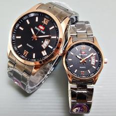 Jual Beli Swiss Time Couple Stainless Steel Blackgold St 1574 Dki Jakarta