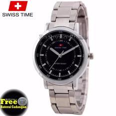 Jam Tangan Couple Stainless Steel S218677672 Hitam plat Putih ... Source .