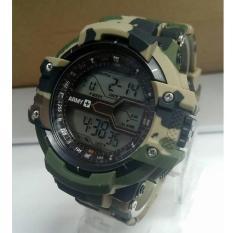 Harga Swiss Time Army Jam Tangan Pria Hitam Strap Rubber Digital S1743 Asli Swiss Time