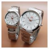 Obral Swiss Time Army St 07064 Jam Tangan Couple Stainless Steel Silver Murah